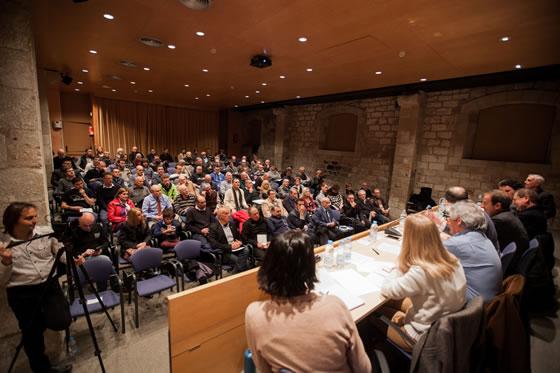 El museo Marítimo de Barcelona había cedido para la ocasión la sala de actos.